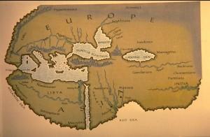 mapa del mundo de Heródoto - reconstrucción