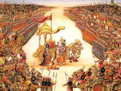 Mahabharata: sermón de Krisna a Arjuna antes de la guerra